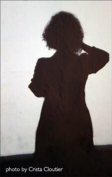 Crista Cloutier silhouette self-portrait