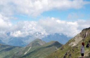 Portrait of Crista Cloutier on a mountain