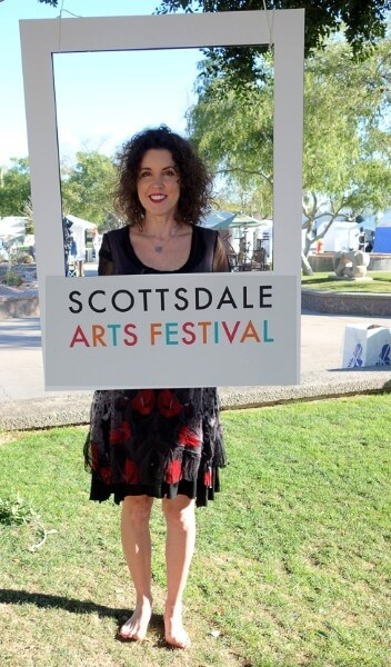 Crista Cloutier at Scottsdale Arts Festival