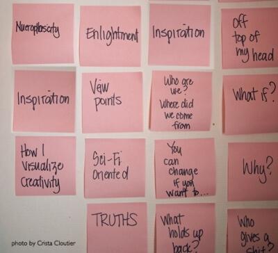 sticky note mind map