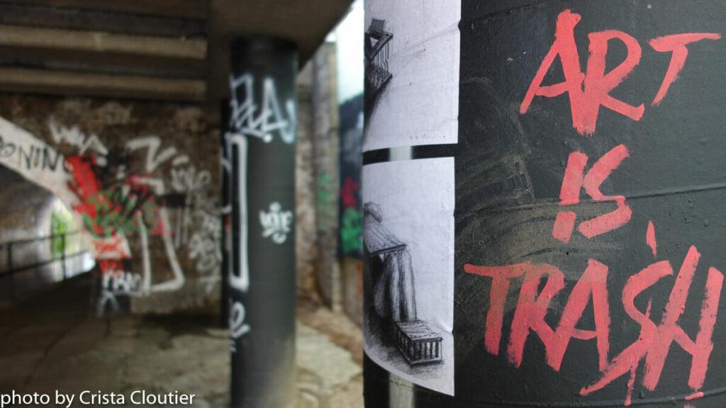'art is trash' graffiti