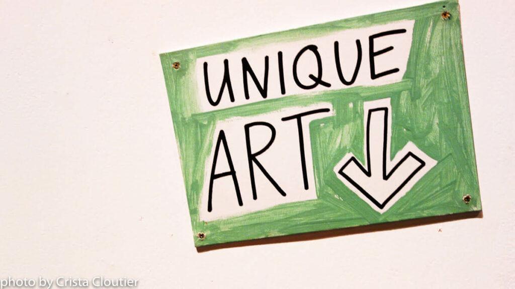 Unique Art sign photo by Crista Cloutier