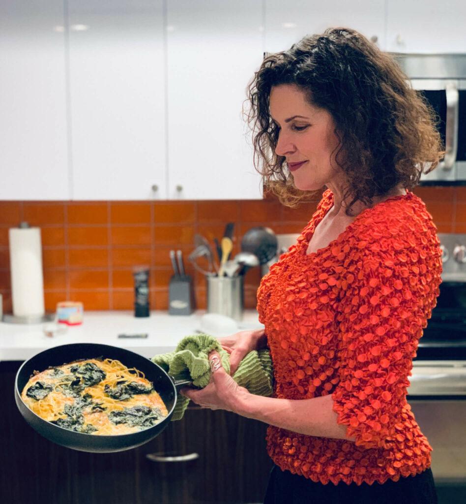 Crista Cloutier cooking